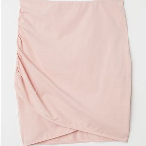 Pink bubblegum draped skirt